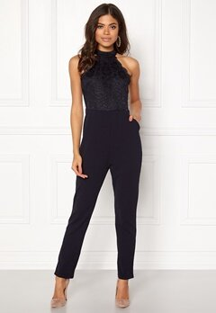 AX Paris High Neck Bodice Jumpsuit Navy Bubbleroom.se