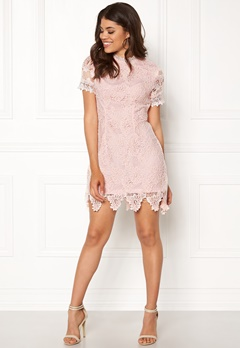 AX Paris High Neck Lace Dress Blush Bubbleroom.fi