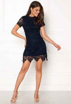 AX Paris High Neck Lace Dress Navy Bubbleroom.fi