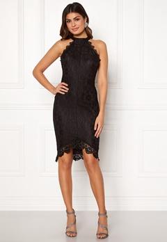 AX Paris High Neck Lace Midi Dress Black Bubbleroom.se