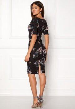 AX Paris High Neck Lace Midi Dress Black Bubbleroom.fi