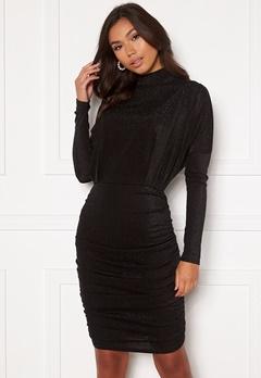 AX Paris High Neck Rouch Sparkle Dress Black bubbleroom.se