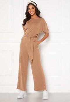 AX Paris Knitted Jumpsuit Camel Bubbleroom.se
