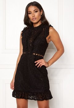 AX Paris Lace Frill Mini Dress Black Bubbleroom.se