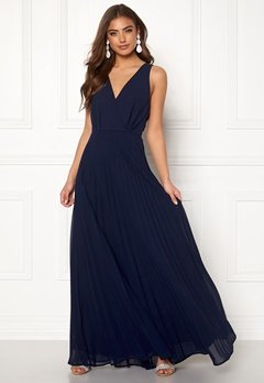 AX Paris Lace Pleated Maxi Dress Navy Bubbleroom.se
