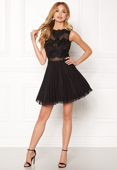 AX Paris Lace Top Skater Dress Black Bubbleroom.dk