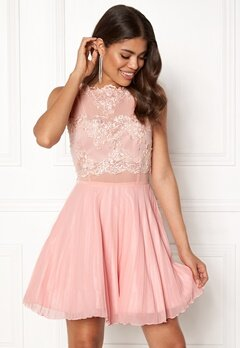 AX Paris Lace Top Skater Dress Nude Bubbleroom.dk