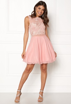 AX Paris Lace Top Skater Dress Nude Bubbleroom.fi