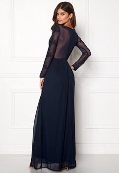 AX Paris Long Sleeve Lace Maxi Navy Bubbleroom.se