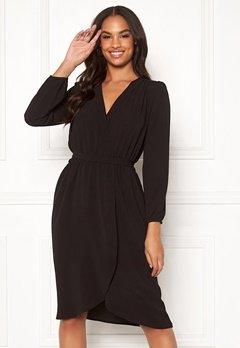 AX Paris Long Sleeve Wrap Dress Black Bubbleroom.se