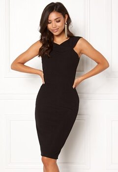 AX Paris Midi Dress Cross Front Black Bubbleroom.dk