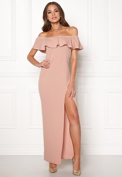 AX Paris Off The Shoulder Dress Blush Bubbleroom.fi