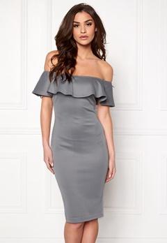 AX Paris Off the Shoulder Dress Grey Bubbleroom.se