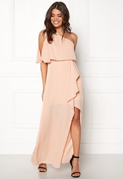 AX Paris One Shoulder Maxi Dress Nude Bubbleroom.se