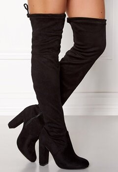 AX Paris Overknee Boots Black Bubbleroom.se