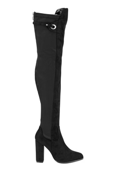 AX Paris Overknee Zip Boots Black Bubbleroom.se