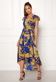AX Paris Printed Cap Maxi Dress Royal Blue Bubbleroom.se