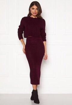 AX Paris Rib Knit Midaxi Skirt Wine Bubbleroom.se