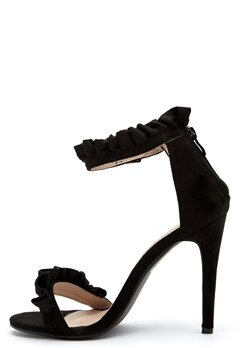 AX Paris Ruffle Detail Stiletto Black Faux Bubbleroom.se