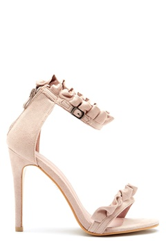AX Paris Ruffle Detail Stiletto Light Cream Bubbleroom.se
