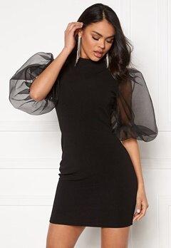 AX Paris Sheer Sleeve Dress Black Bubbleroom.se