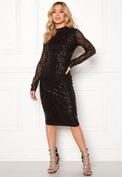 AX Paris Sleeve Sequin Midi Dress Black Bubbleroom.se