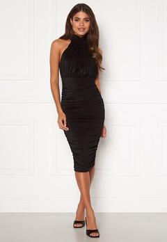 AX Paris Sparkle High Neck Rouch Midi Dress Black bubbleroom.se