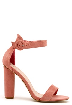 AX Paris Thin Buckle Strap Sandals Blush Suede Bubbleroom.se