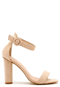 AX Paris Thin Buckle Strap Sandals Cream Bubbleroom.se