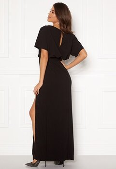 AX Paris Tie Waist Maxi Dress Black Bubbleroom.se