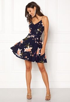 AX Paris V Neck Strappy Dress Navy Bubbleroom.dk