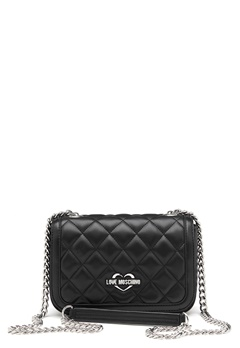 Love Moschino Bag With Chain 000 Black Bubbleroom.se