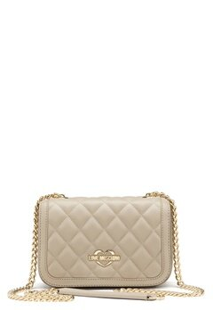 Love Moschino Bag With Chain 108 Taupe/Sand Bubbleroom.fi