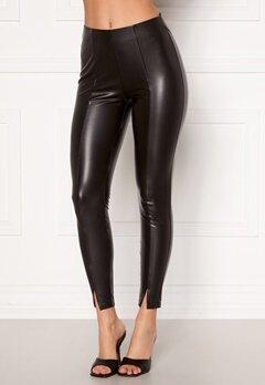 VILA Barb Coated 7/8 Pants Black bubbleroom.se