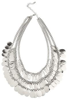Pieces Basilla Necklace Silver Colour Bubbleroom.fi