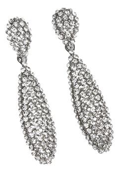 Love Rocks Batton Drop Earring Silver colour Bubbleroom.se