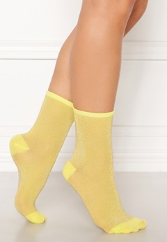 Becksøndergaard Dina Solid Socks Yellow Bubbleroom.se