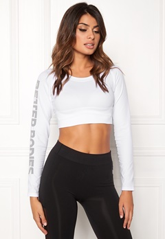 Better Bodies Bowery Cropped Long Sleeve White Bubbleroom.se