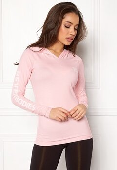 Better Bodies Performance LS Hood Pink Melange Bubbleroom.se