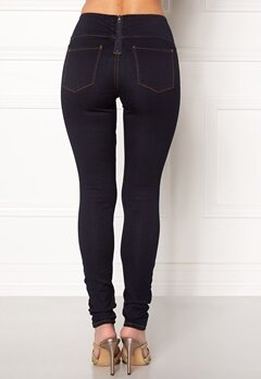 Pieces Betty High Waist Jeggings Dark Blue Denim Bubbleroom.eu