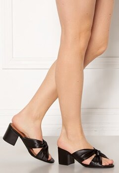 Bianco Cate Knot Mule Sandal 100 Black Bubbleroom.se