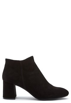 Billi Bi Black Suede Booties Black Bubbleroom.se