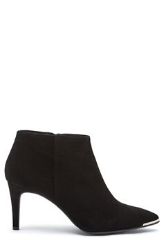 Billi Bi Black Suede High Booties Black Bubbleroom.se