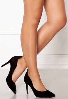 Billi Bi Black Velvet Pumps Black Bubbleroom.se