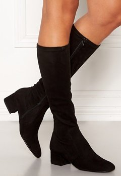 Billi Bi Long Suede Boots Black Bubbleroom.se