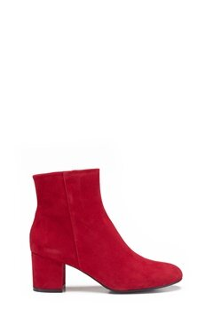 Billi Bi Red Suede Boots Red Bubbleroom.no