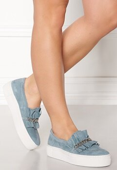 Billi Bi Suede Sneakers Lightblue Bubbleroom.se