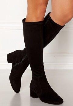 Billi Bi Suede Stretch Long Boots Black Bubbleroom.se