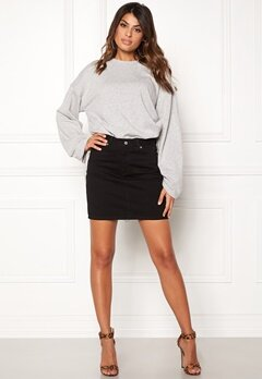 Dr. Denim Bix Denim Skirt Black Bubbleroom.se