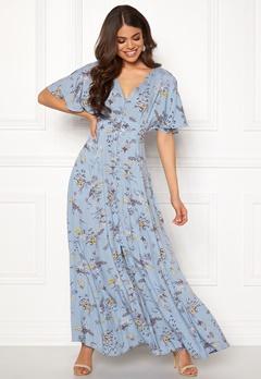 Blue Vanilla Floral Button Maxi Dress Blue Bubbleroom.se